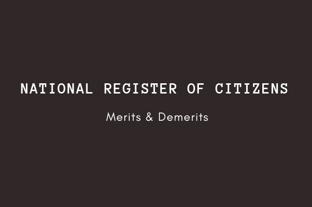 national register of citizens - pros & cons