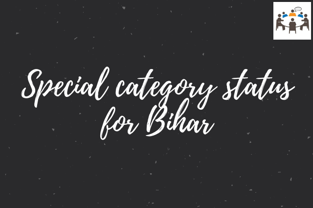 special cateogry status for bihar