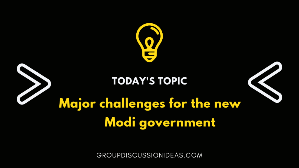Major challenges for the new Modi government