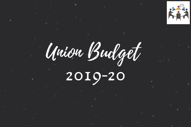 union budget 2019 GD topic